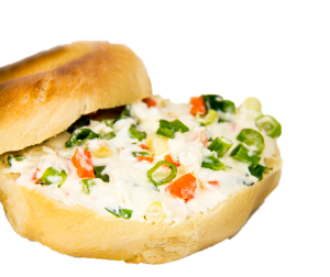 Veggie Cream Cheese Bagel